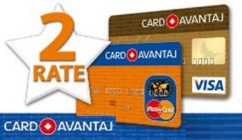 Card Avantaj 2 rate
