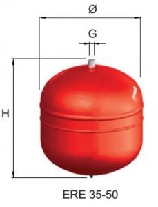 poza Vas expansiune cu membrana fixa CIMM  ERE CE 50 - 50 litri