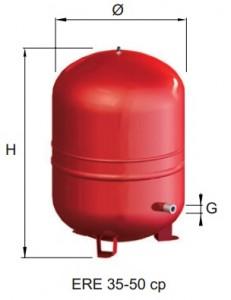 poza Vas expansiune cu membrana fixa CIMM  ERE CE 50 cp - 50 litri