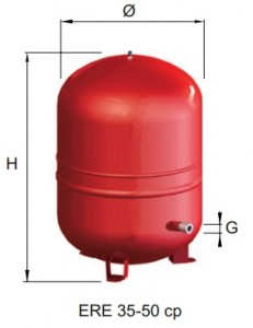 poza Vas expansiune cu membrana fixa CIMM  ERE CE 35 cp - 35 litri