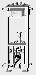 Rezervor WC incastrat VIEGA coltar