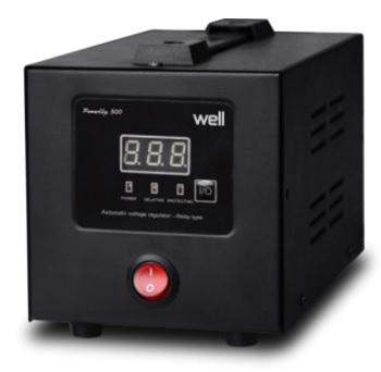 Stabilizator automat de tensiune cu releu WELL POWERUP 500VA