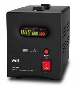 Poza Stabilizator automat de tensiune cu releu WELL 1500VA