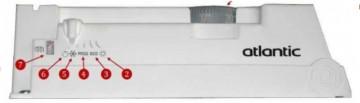 Poza Convector electric de perete ATLANTIC F119-05 cu termostat electronic 500 W. Poza 3404