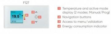 Poza Convector electric de perete ATLANTIC F127 cu termostat digital programabil 1000 W. Poza 3538