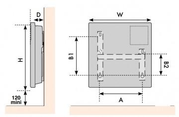 Poza Convector electric de perete ATLANTIC F127 cu termostat digital programabil 1000 W. Poza 3539