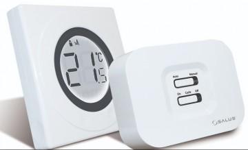 poza Termostat de ambient fara fir SALUS ST320RF neprogramabil cu inel tactil