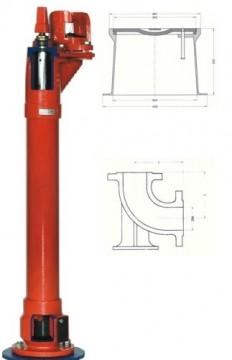 Hidrant SUBTERAN de incendiu, DN80 HB=1 m