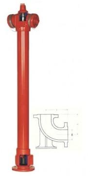 Hidrant SUPRATERAN constr. neretezabila cu 2 rac. tip B, Dn 80, HB= 1 m