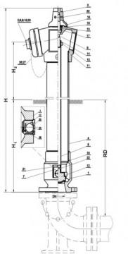 Poza Hidrant SUPRATERAN constr. neretezabila cu 2 rac. tip B, Dn 80, HB= 1 m. Poza 3685