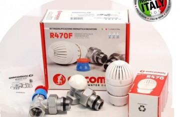 Poza Set robineti tur-retur GIACOMINI cu cap termostatat 1/2 inch. Poza 3909