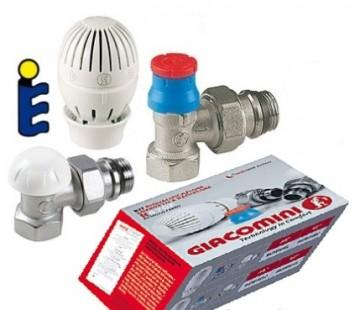 Poza Set robineti tur-retur GIACOMINI cu cap termostatat 1/2 inch. Poza 3910