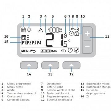 Poza Termostat de ambient fara fir programabil Honeywell T3R. Poza 4154