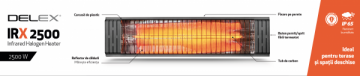 Poza Panou radiant cu infrarosu DELEX IRX 2500. Poza 4370