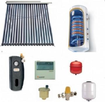 Pachet panou solar cu 20 tuburi vidate SONTEC si boiler 120 litri pentru 1-2 persoane