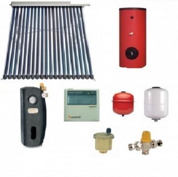 Pachet panou solar cu 30 tuburi vidate SONTEC si boiler 200 litri pentru 3-4 persoane