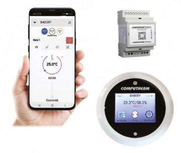 Poza Termostat de ambient programabil fara fir Wi-Fi Computherm B400RF