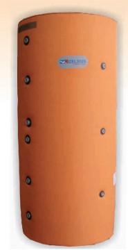 Rezervor de acumulare/Puffer CELSIUS 1000 litri  cu izolatie cu o serpentina din metal H-2350 mm