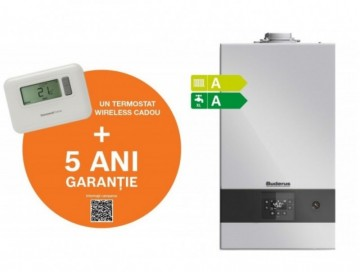Poza  Centrala termica in condensatie Buderus Logamax Plus GB122 - 24 KH + Termostat Honeywell T3R + Garantie extinsa 5 ani