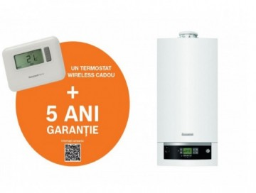 Poza Centrala termica in condensatie Buderus Logamax Plus GB 072-24K V2 Erp - 24 kW + Termostat Honeywell T3R + Garantie extinsa 5 ani