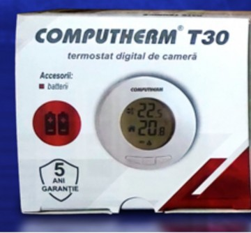 Poza Temostat de ambient cu fir neprogrambail Computherm T30