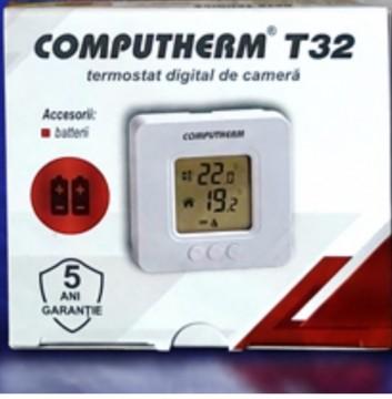 Poza Temostat de ambient cu fir neprogrambail Computherm T32