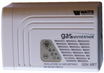 Centrală de detecţie a scurgerilor de gaz WATTS, multi-zonă, seria GSX MET