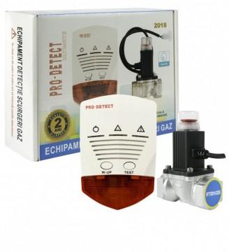 Kit Detector gaz PRO DETECT cu electrovalva 3/4″, 12 VCC