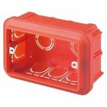 Doza aparat Gewiss GW24403, incastrata, modulara, 3 module, 119 x 80 x 50.5 mm