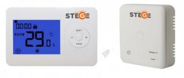 Termostat de ambient fara fir programabil Stege WT200 RF