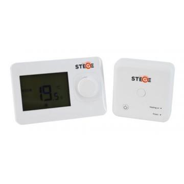 Termostat de ambient fara fir neprogramabil Stege WT100 RF