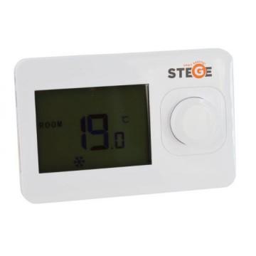 Termostat de ambient cu fir neprogramabil Stege HT100