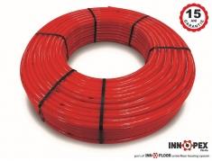 Teava PE-Xa INNOPEX cu bariera de oxigen 17x2 - 500 ml/colac, rosie
