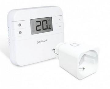 Termostat de ambient programabil fara fir cu receptor tip priza SALUS RT510SPE