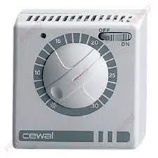 Termostat de ambient mecanic cu fir CEWAL RQ30