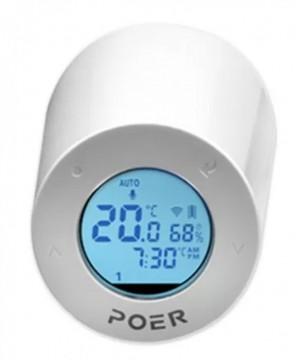 Cap termostatic POER Smart cu control din internet, cu comanda pornit-oprit centrala si control vocal Google Home si Alexa