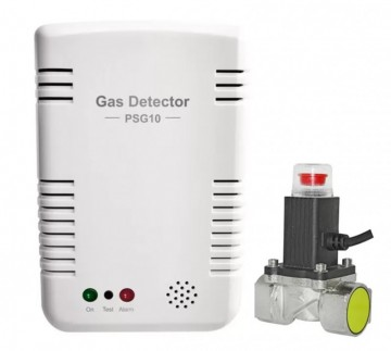 Detector inteligent de gaz POER Smart si Electrovalva actionabila la 9Vcc POER Smart