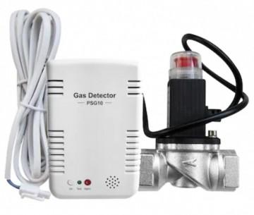 Poza Detector inteligent de gaz POER Smart si Electrovalva actionabila la 9Vcc POER Smart