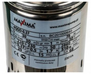 Poza Pompa submersibila 4QGD - 0.37, cu tablou electric si cablu 15 m