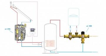 Poza BARBERI V20 - Kit de amestec cu vană deviatoare pentru boiler. Poza 5912