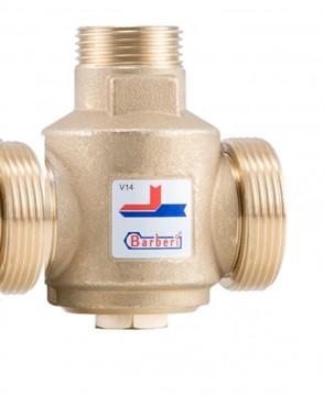 Vana termostatica de amestec ,anticondens, cu 3 cai BARBERI V14 - 1 1/4